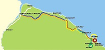 Carte du tour Guyane 2018